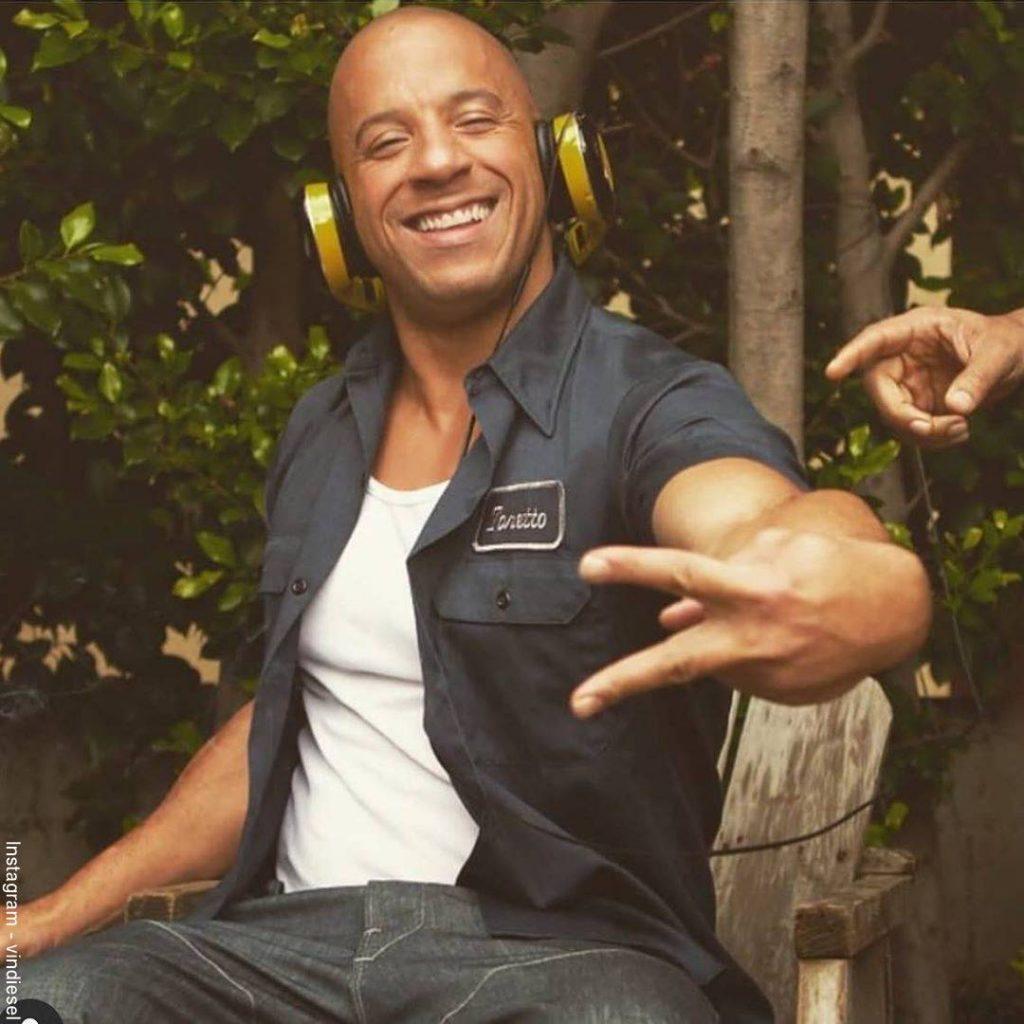Foto de Vin Diesel durante las grabaciones de Rápido y Furioso