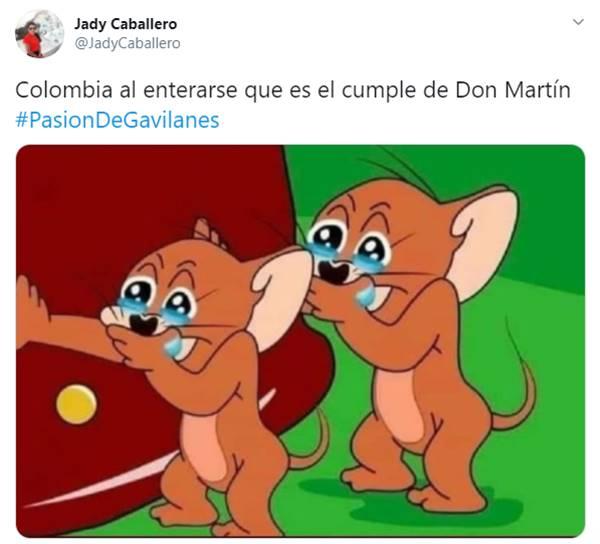 Uno de los memes del cumpleaños de don Martín en Pasión de gavilanes