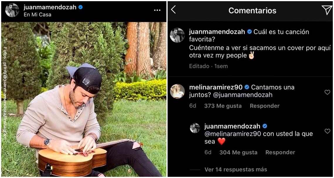 Mensajes de Melina Ramírez en la publicación de Juan Manuel Mnedoza.