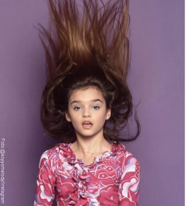 Foto de Melody cuando era niña