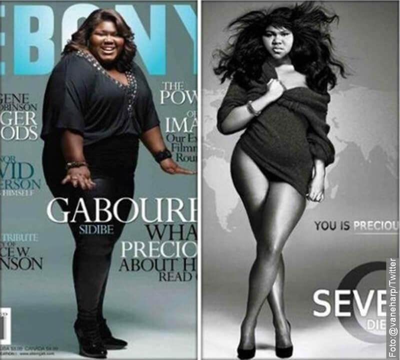Gabourey Sidibe siendo portada de 2 revistas