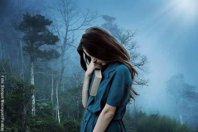 Foto de una mujer triste