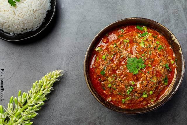 Foto de una pasta de tomate