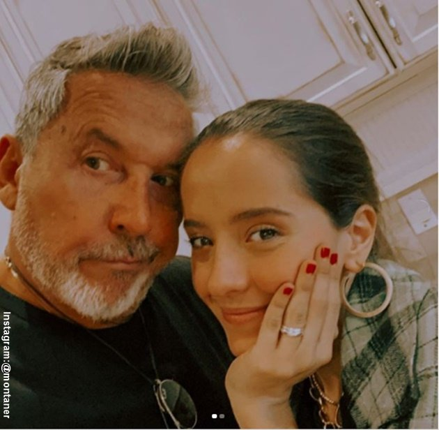 Foto de Eva Luna con Ricardo Montaner