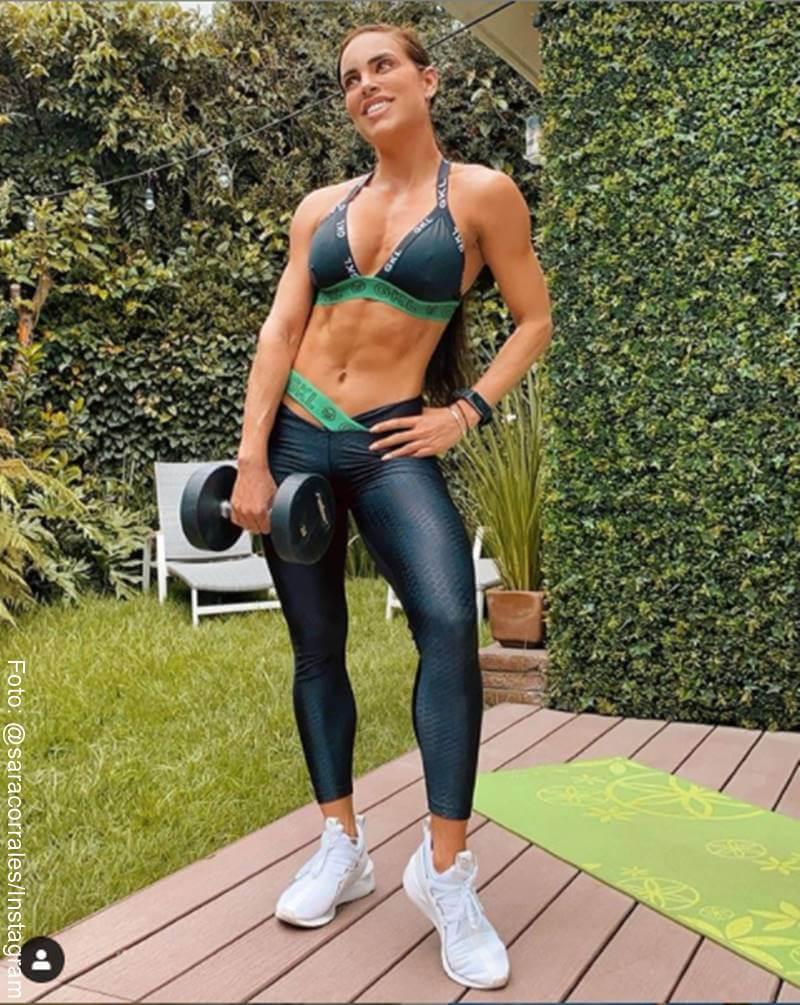 Foto de Sara Corrales en ropa deportiva