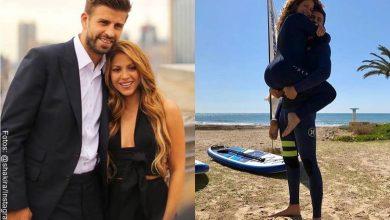 Shakira presumió abdomen de Piqué sin camiseta