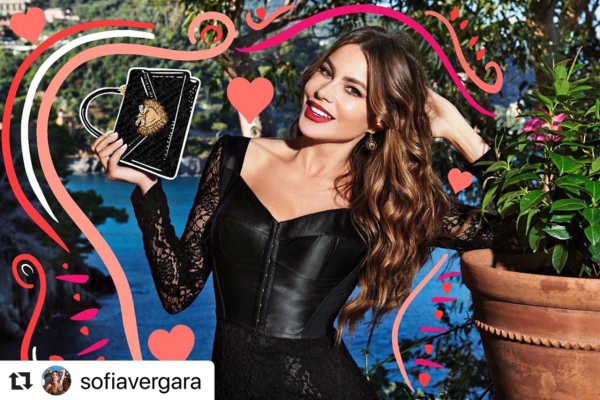 Sofía Vergara posando en campaña publicitaria.