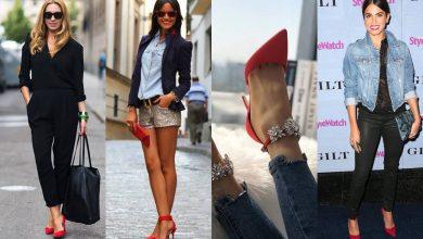 Zapatos rojos de tacón: combínalos así para lucir muy hot