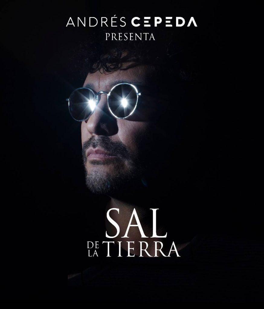 Foto de Andrés Cepeda promocionando su concierto Sal de la Tierra