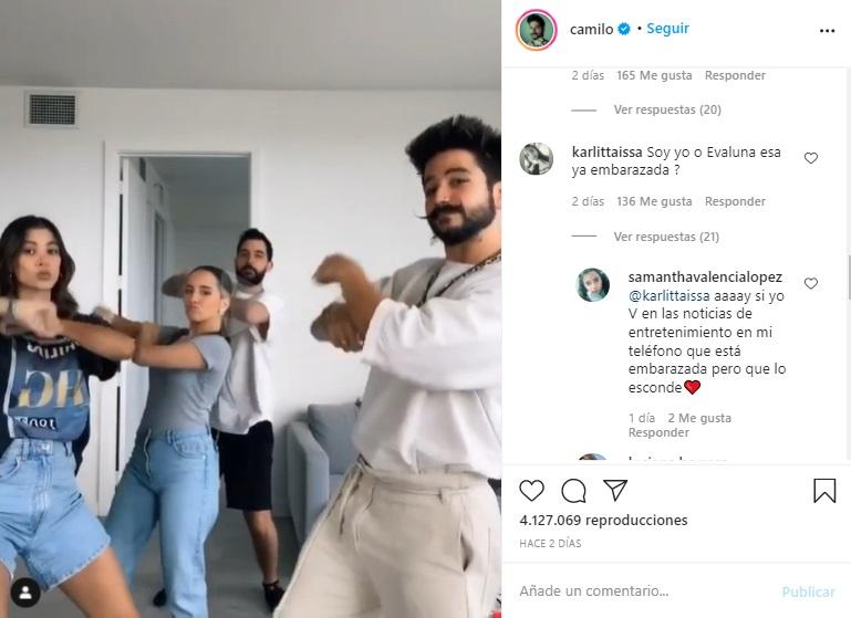 comentarios sobre el posible embarazo de Evaluna.