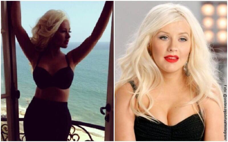 Fotos del antes y después de Cristina Aguilera con sus cambios de peso
