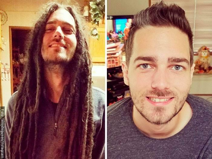 Foto de hombre para ilustrar cortes de cabello antes y después en hombres