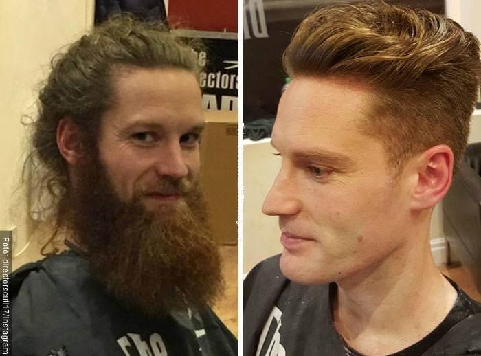 Foto para ilustrar cortes de cabello antes y después en hombres