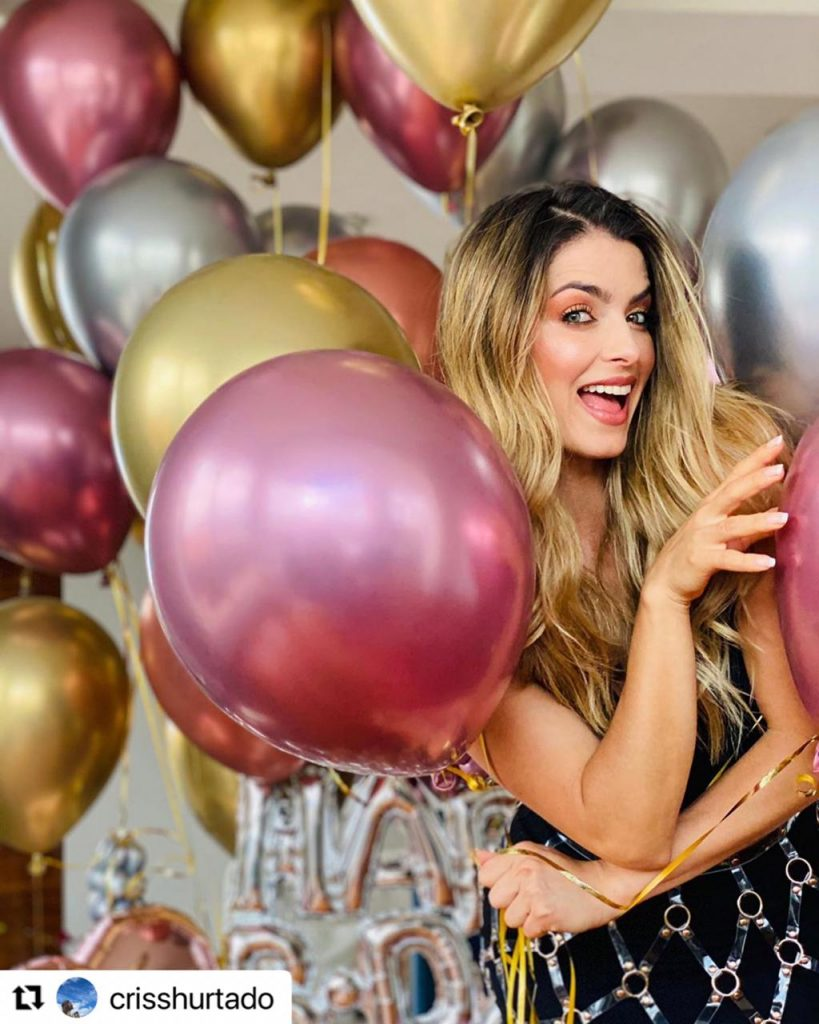 Cristina Hurtado en su cumpleaños.