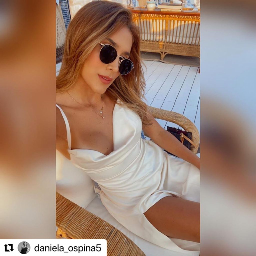 Daniela Ospina durante sus vacaciones en Europa.
