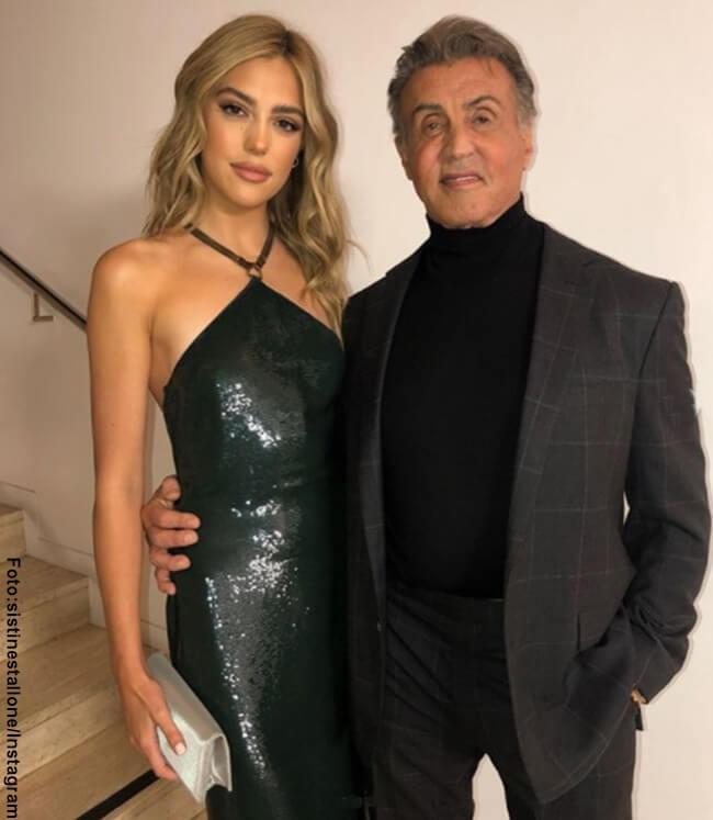 Foto de Sylvester Stallone y su hija Sistine