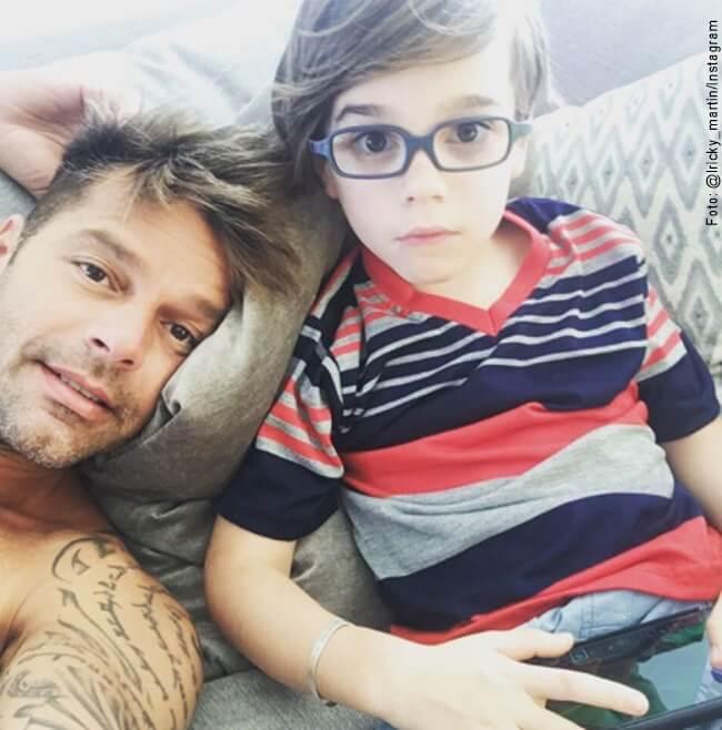 Foto de Ricky Martin y uno de sus hijos