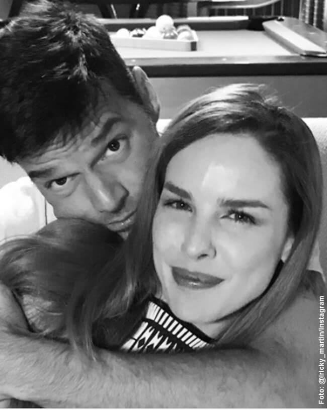 Foto de Ricky Martin con Eglantina Zingg