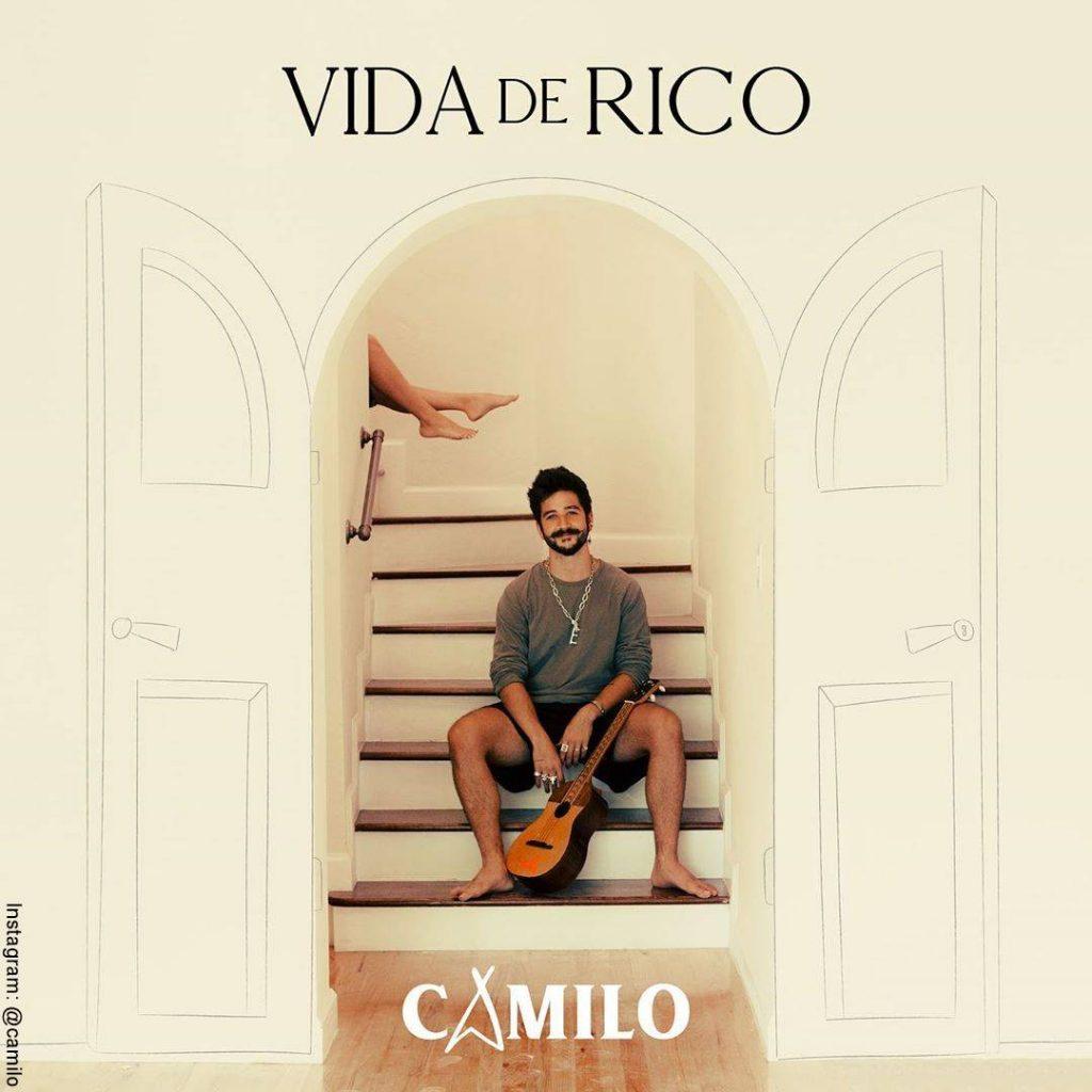 """Carátula del nuevo lanzamiento musical de Camilo llamado """"Vida de rico""""."""
