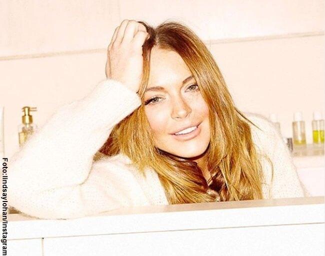 Foto del rostro de Lindsay Lohan