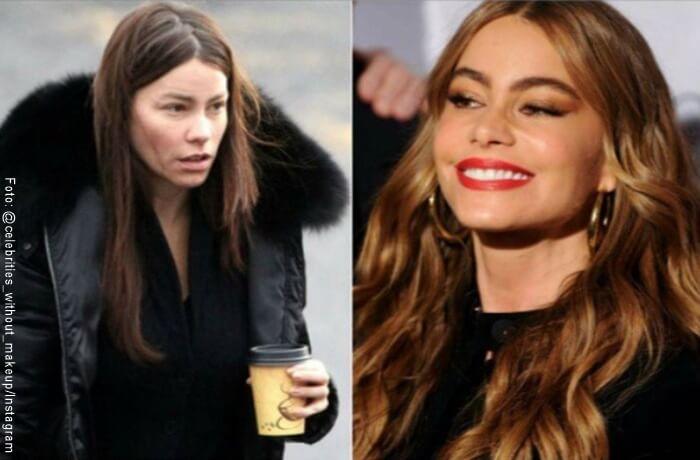 Fotos de Sofia Vergara sin maquillaje y sin maquillaje