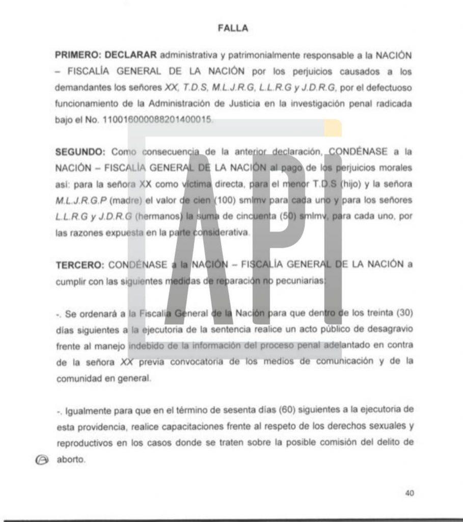 Print Fallo a favor de Carolina Sabino en caso de aborto
