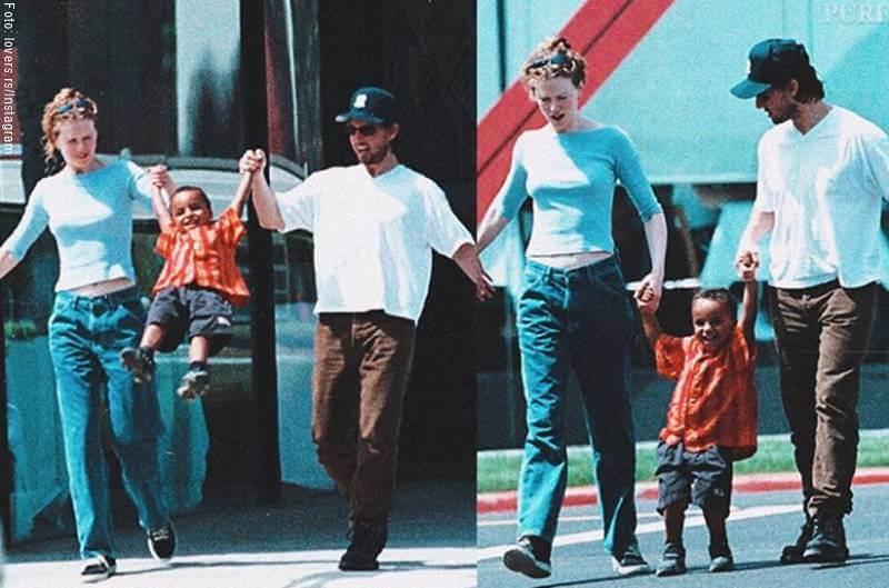 Foto de Nicole Kidman y Tom Cruise con uno de sus hijos adoptivos