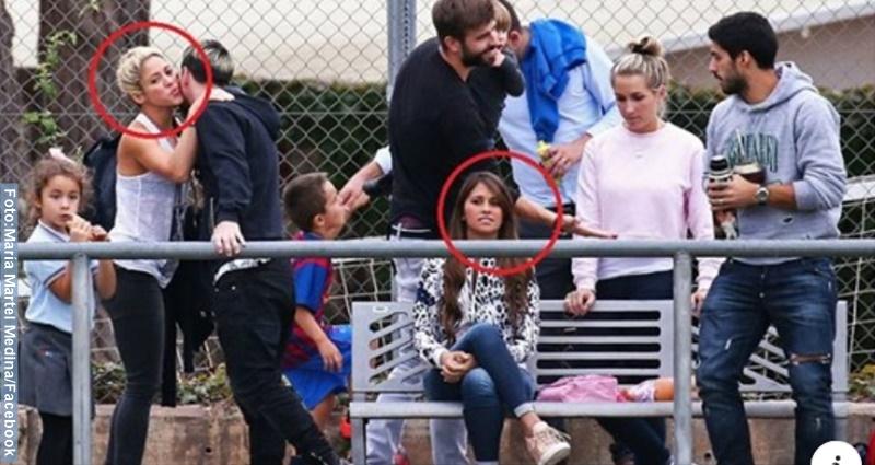 Foto de un encuentro entre 3 jugadores del Barcca y sus esposas