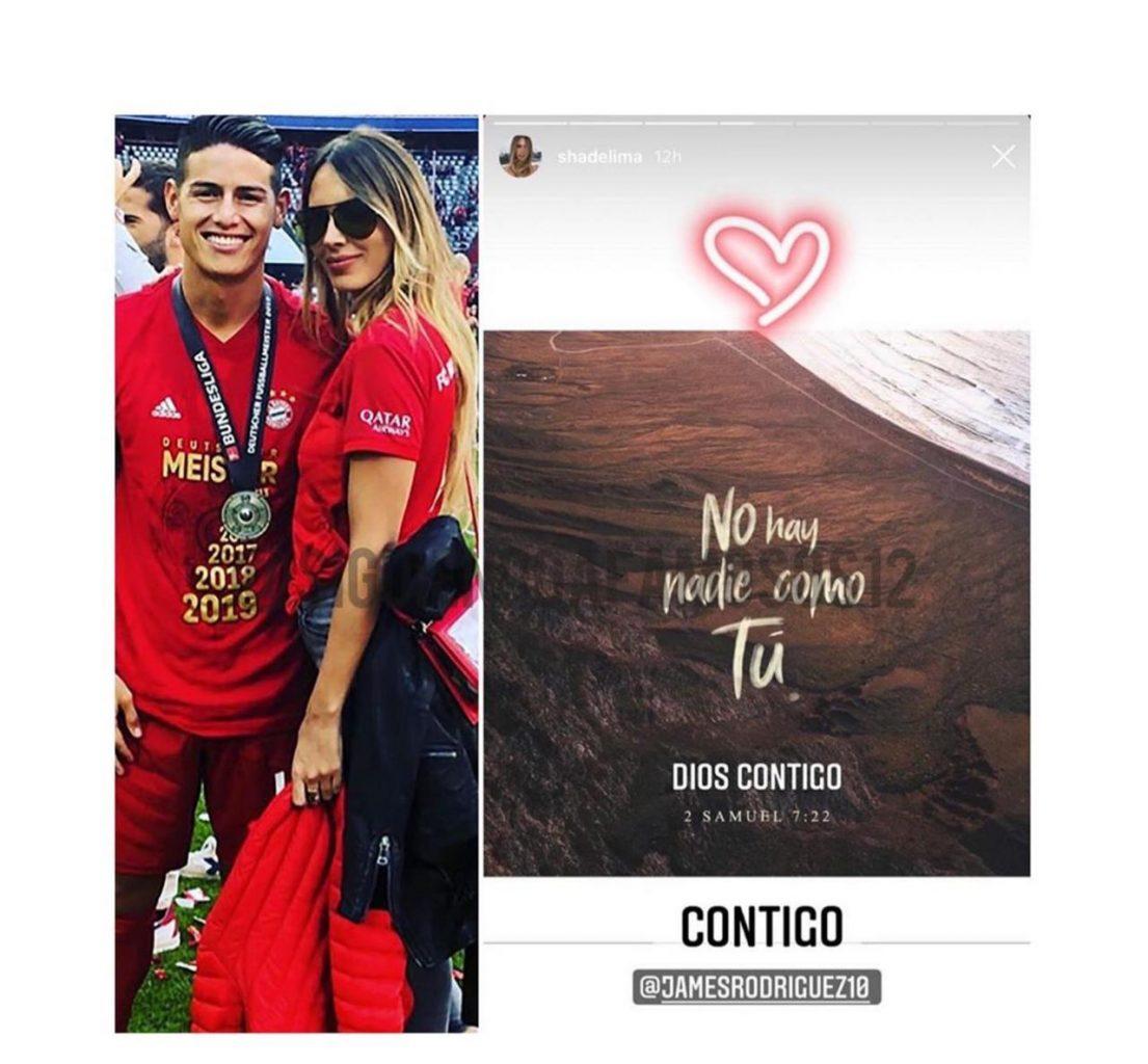 Emotivo mensaje de Shannon de Lima a James Rodríguez.