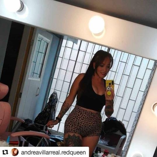 Andrea Villarreal con sexy outfit en Instagram.