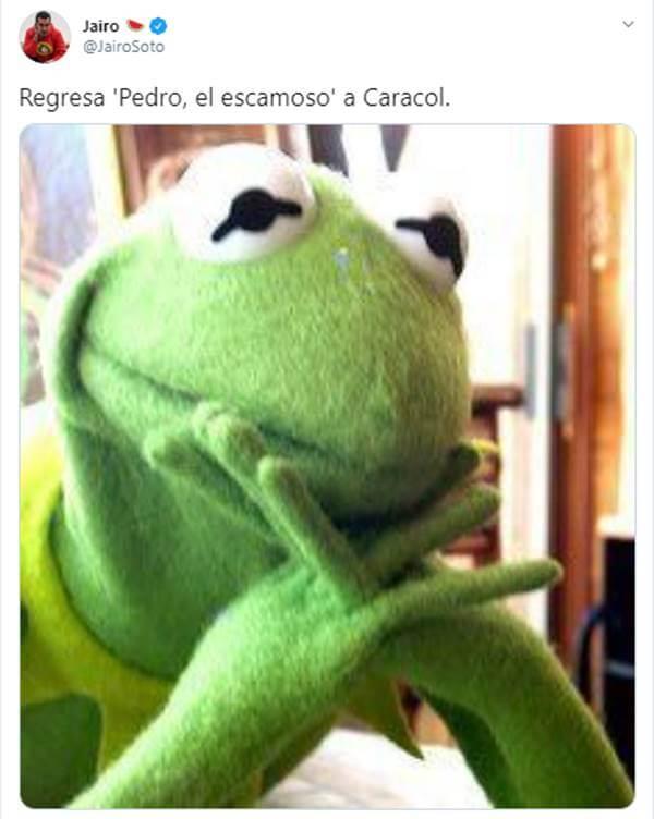 Meme sobre Pedro el escamoso vuelve
