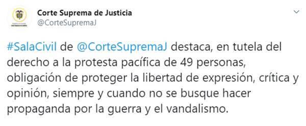 Print Twitter Corte Suprema de Justicia