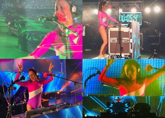 Mosaico de fotos de DJ Karencita