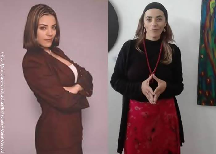Foto antes y después de actriz Sandra Reyes