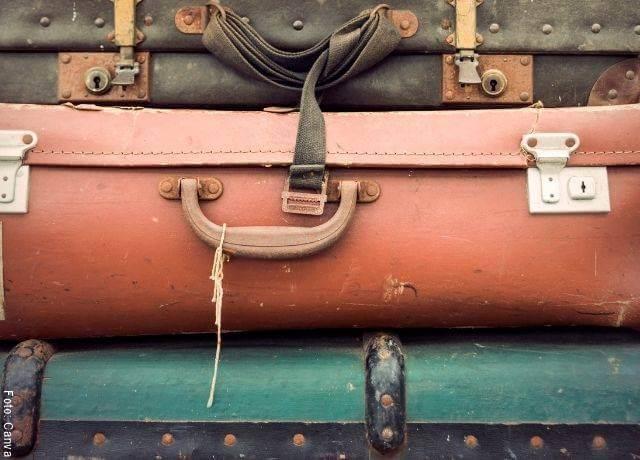 Foto de maletas viejas