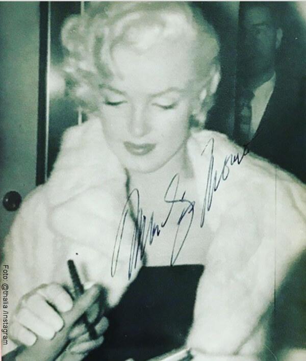 Foto de Marilyn Monroe autografiada