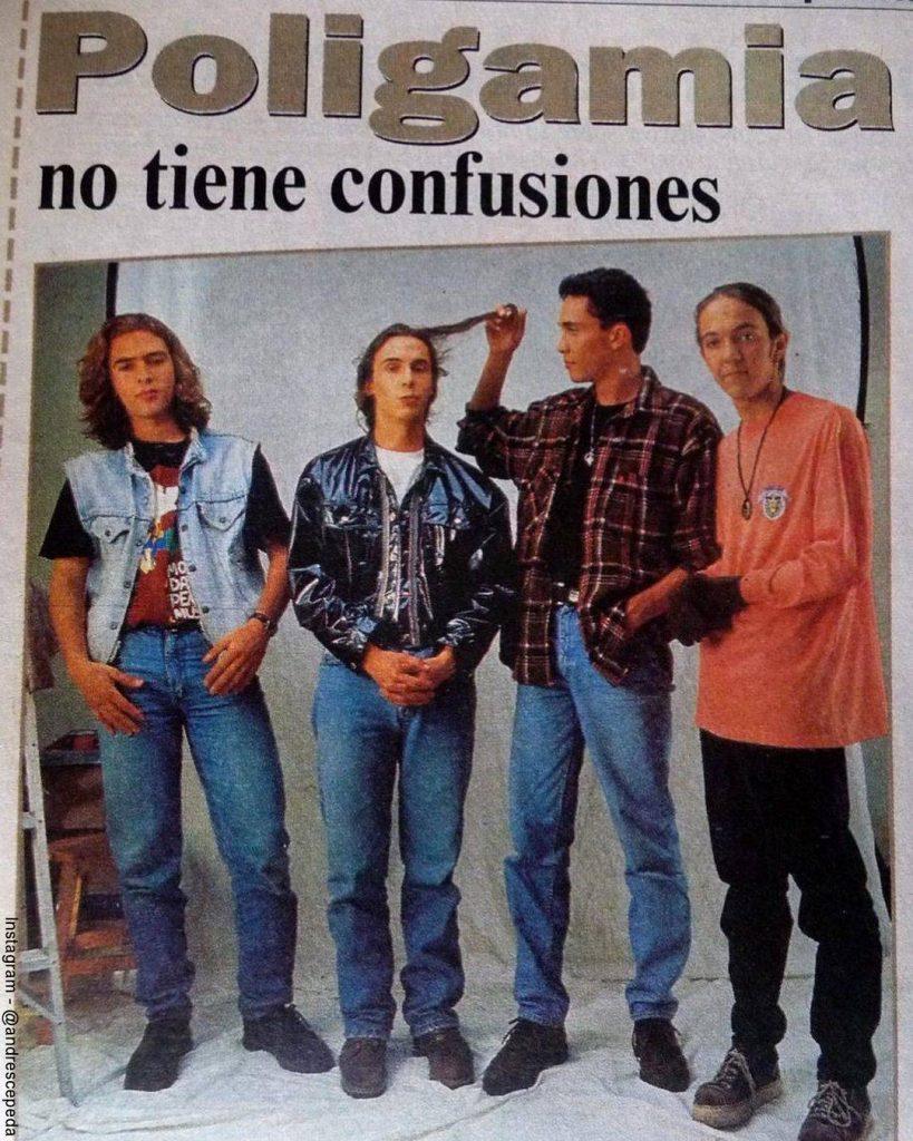 Foto de Poligamia y Andrés Cepeda de los años noventa