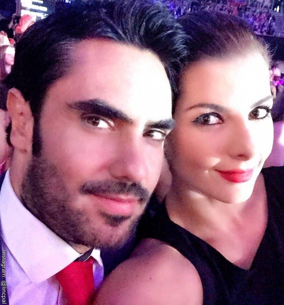 Foto de Lincoln Palomeque y Carolina Cruz  en una celebración