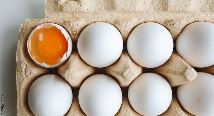 Foto de una cubeta de huevos
