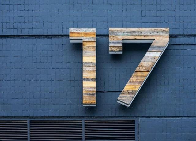 Foto del número 17 para ilustrar cuál es mi número de la suerte según mi signo