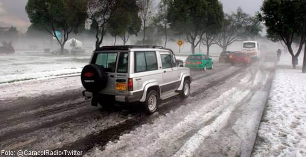 Foto de la granizada en Bogotá... ¡Parecía nieve!