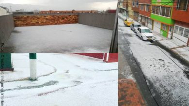 Fotos de la granizada en Bogotá... ¡Parecía nieve!