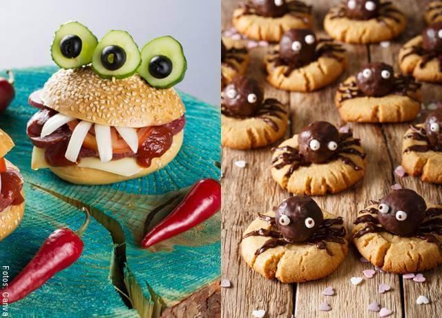 Foto de comida alusiva al Halloween