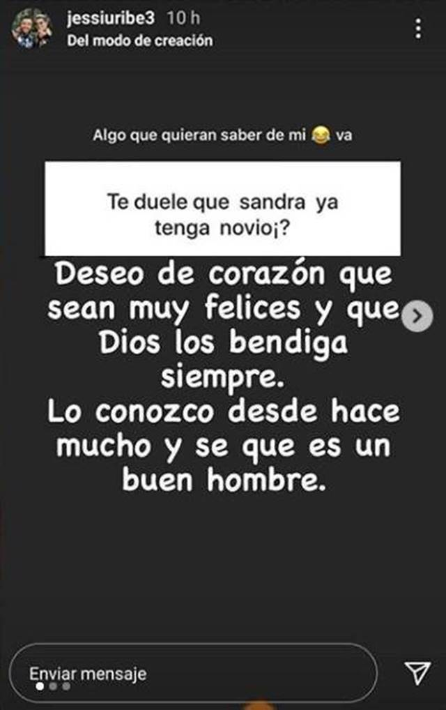 Print de Instagram de Jessi Uribe