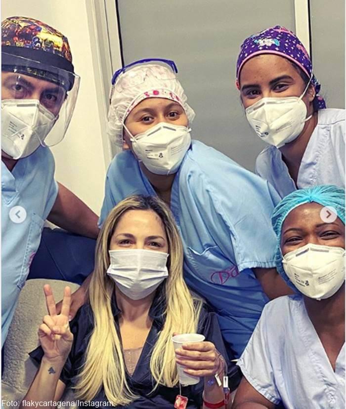 Foto de Mabel Cartagena tras cirugía