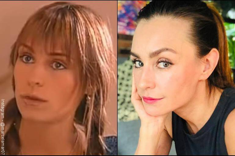 Foto de Marcela Mar de su antes y después