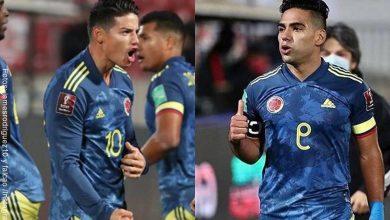 Mensaje de James a Falcao tras su gol de empate con Chile