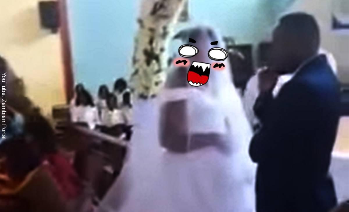 Mujer interrumpió un matrimonio, ¡el de su propio esposo!