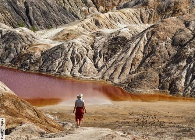 Foto de un paisaje parecido a Marte