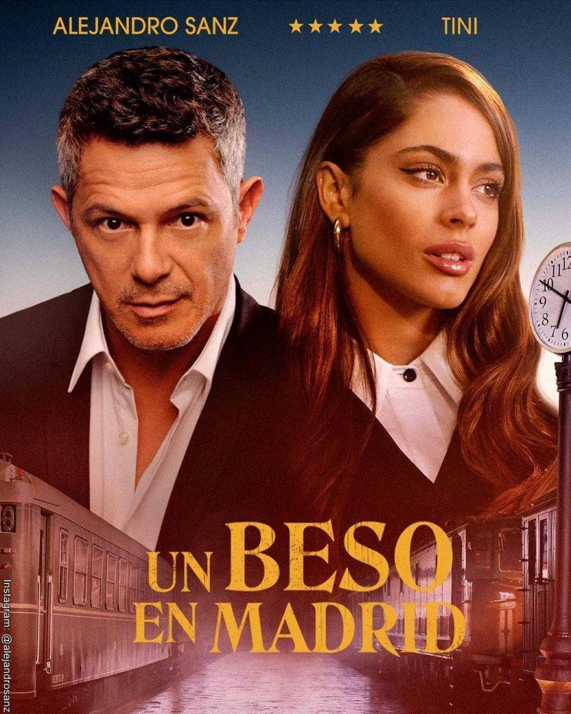 Foto del lanzamiento de Un beso en Madrid la canción de Alejandro Sanz y Tini Stoessel